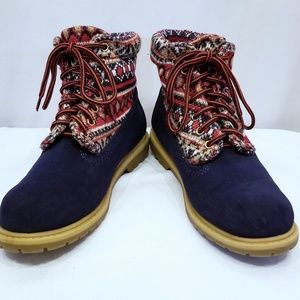 Bella Marie Shoes - BELLA MARIE Hiking Boots Vegan Suede Navy Blue